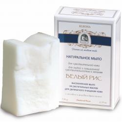 """Мыло натуральное """"Белый рис"""", 130 г. Клеона"""