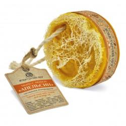 """""""Апельсин"""" мыло с люфой на веревке, 130 г. Kлеона"""