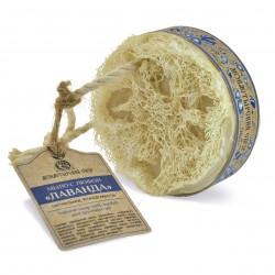 """""""Лаванда"""" мыло с люфой на веревке, 130 г. Kлеона"""