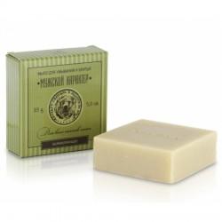 Мыло для умывания и бритья с маслом полыни и сандала, для всех типов кожи (заживляющее) 85 г. Клеона