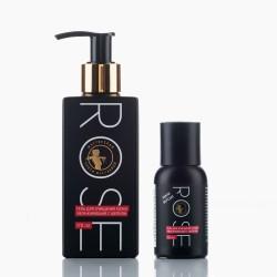 Rose гель для очищения кожи увлажняющий с шелком, 45 мл/170 мл. Мастерская Олеси Мустаевой